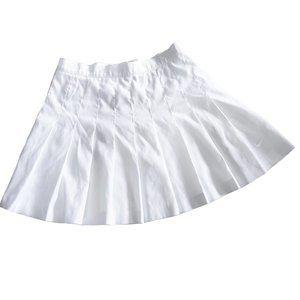 Nike White Mini Skirt Short Pleated Tennis Skirt